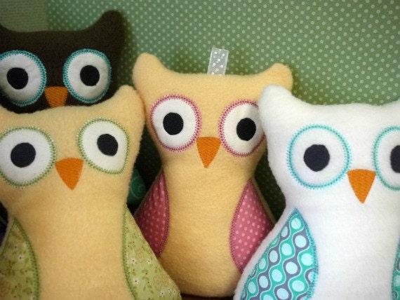 Custom Owl -  Plush Owl Toy - Baby Toy