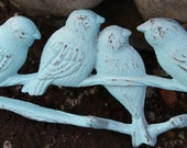 Shabby Chic/Cottage Chic Cast Iron Birds on a Branch Wall Hook