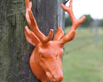 Cast Iron Deer Head Hook / Coat Rack