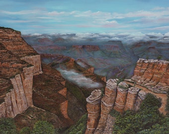 """Grand Canyon Giclee of Original Oil Painting - """"View From the Rim"""" - 30x40"""""""
