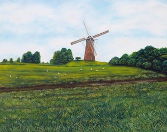 "Dutch Country Landscape Giclee Print, ""Holland Countryside"""