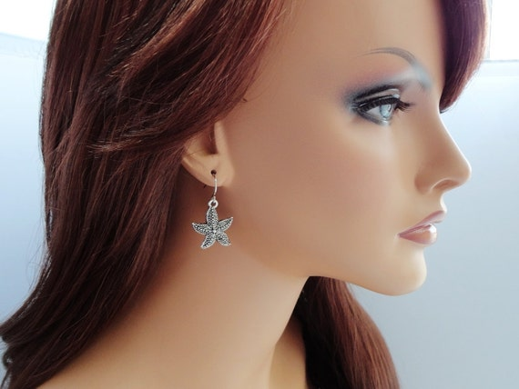 Starfish Earrings - Everyday Jewelry - Simple Earrings