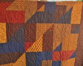 Sale King Quilt made with Moda Fabric