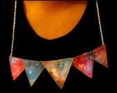 Nebula/Universe Triangle Necklace