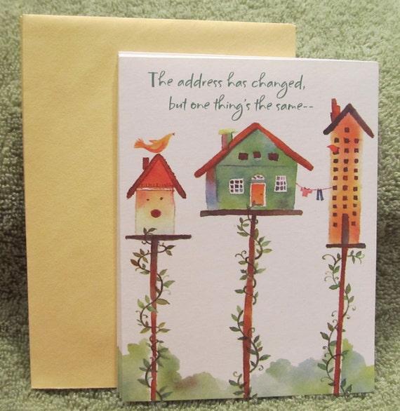 Hallmark change of address note cards envelopes qty 5 bird for Change of address note cards