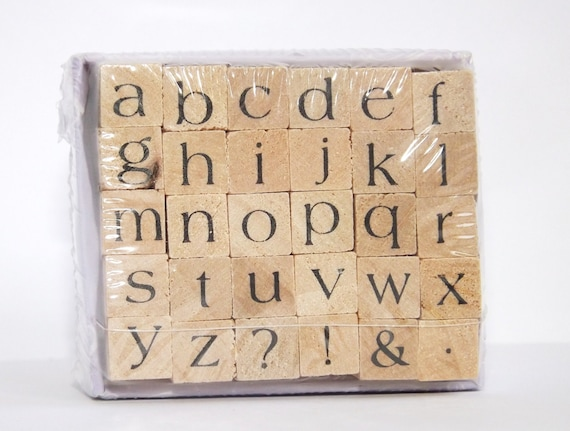 ABCs Lower Case Wood Mounted Stamp Set Studio G