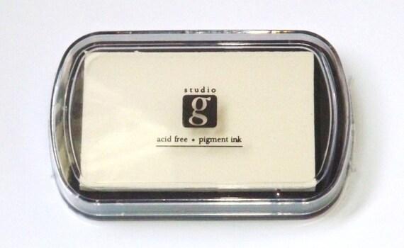 White Cream Ink Stamp Pad Studio G By Littlefairygarden On