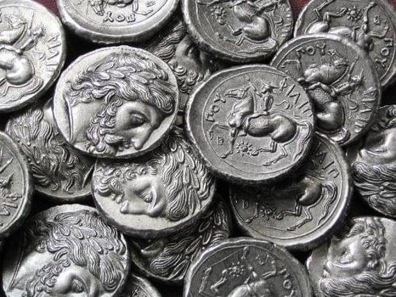 Greece Philip II Tetradrachm 359-336 BC tin replica coin