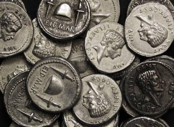 Rome Brutus Denarius 85-42 BC tin replica coin
