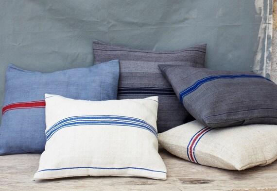 Vintage Grain Sack Pillow Cover