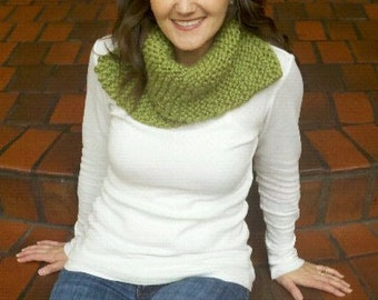 Knitted Cowl Neck Scarf, Knitted Wools Scarf