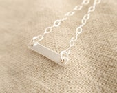 Mini smooth bar Sterling silver necklace-simple everyday jewelry
