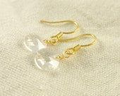 Clear crystal 14K gold filled Earring -simple everyday jewelry