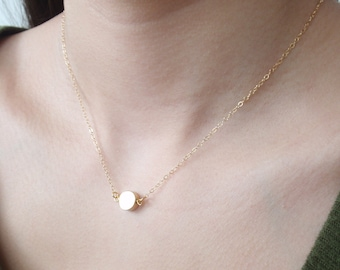 Solo point 14K gold filled necklace-simple everyday jewelry