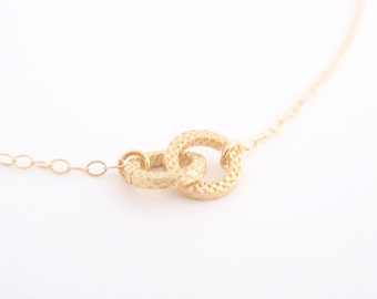 Tiny Infinity 14K gold filled necklace-simple everyday jewelry