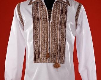 Ukrainian embroidered shirt for boys and adult men. Vishivanka Ukrainian. Ukrainian national clothes. Men's vyshyvanka 100% linen, cotton