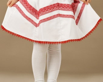 Ukrainian embroidered skirt. Vyshyvanka skirt. Traditional ukrainian clothing. Modern machine embroidery. Childrens clothes