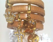 Leather with Charms bracelet