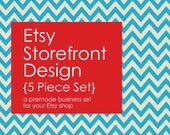 Premade Etsy Shop Banner and Avatar Set - 5 Pieces