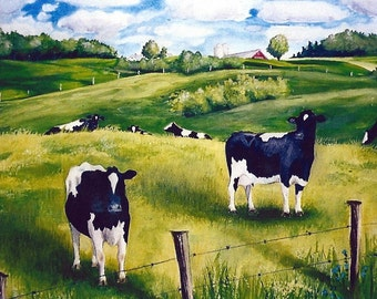 The Pasture, 5 x 7 print on acid free 8.5 x 11, 65 lb. off-white matte, signed by me, carefully shipped flat.