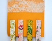 Fabric Covered Clothes Pin Magnets