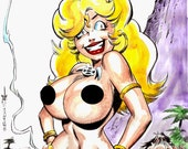 CAVE BABE , Sketch book art 6, Sexy Fantasy Art / Burcham