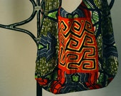 Boho Bag, Urban Tribal, Handmade, African Prints with Mola Unique to Panama (Small)
