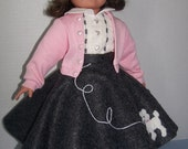 RESERVE Maria: FREE SHIPPING Poodle Skirt Complete Outfit for American Girl Doll
