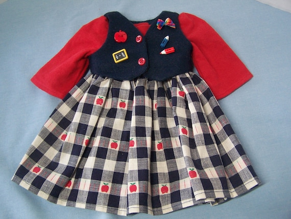 FREE SHIPPING Cute 2 Pc, School Dress to fit American Girl Doll