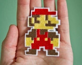 8 BIT MARIO-- Nintendo Throwback Embroidered Iron-on NES Patch