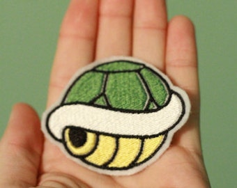 Green Turtle Shell - Embroidered Nintendo Patch from Mario Brothers