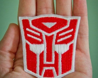 Autobot -- Embroidered Iron-on Transformers Patch