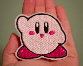 Kirby --Choose from 4 colors -- Iron-on Nintendo patch from Kirby NES game