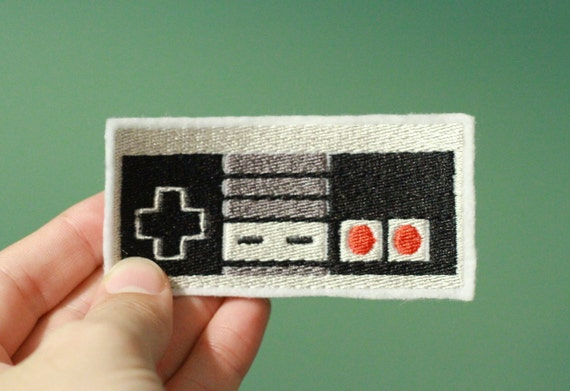CONTROLLER-- Nintendo Throwback Embroidered Iron-on NES Patch