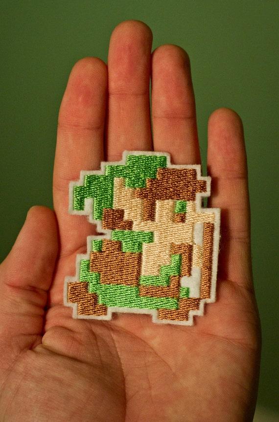 8 BIT LINK-- Zelda Throwback Embroidered Iron-on NES Nintendo Patch