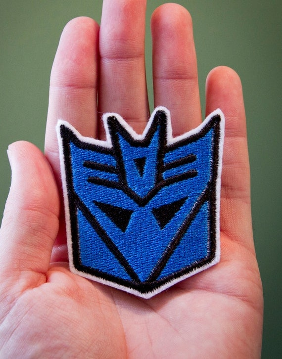 Decepticon -- Embroidered Iron-on Transformers Patch