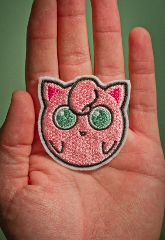 Jiggly Puff -- Embroidered Iron-on Pokemon Patch