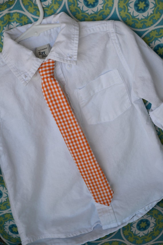 Orange & White Checkered University of Tennessee Adjustable Baby / Toddler / Child Tie