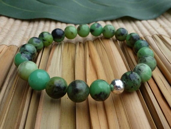 Chinese Chrysoprase for Good Fortune - Reiki Charged Bracelet