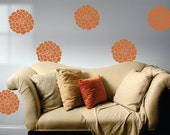 Set of 8 marigold flowers vinyl wall art decal stickers