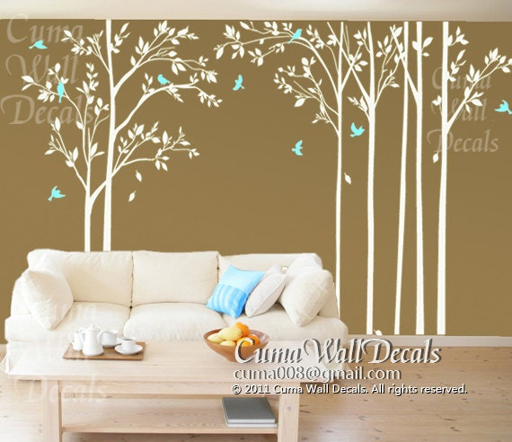 forest wall decals tree and birds wall mural nursery wall 25 best ideas about vinyl wall stickers on pinterest
