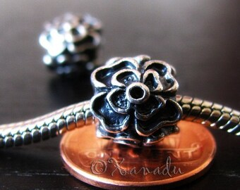 Flower Large Hole Beads - 2/5/10 European Beads For All Large Hole Charm Bracelets