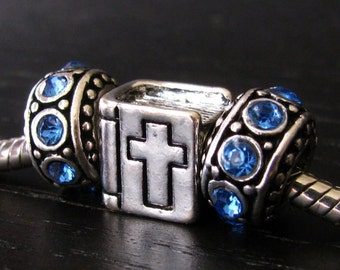 Holy Bible European Charm Beads And Crystal Birthstone Spacers - For All European Charm Bracelets