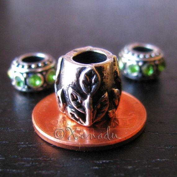 Gardener's Green Thumb Sapling Charm And Birthstone Beads For European Charm Bracelets