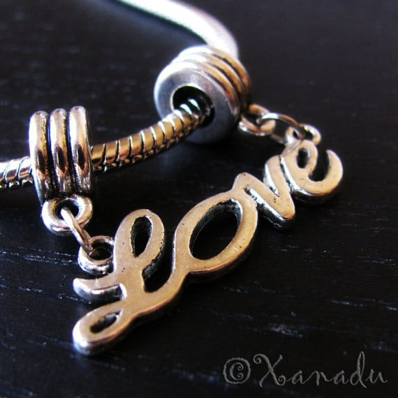 LOVE Dangle European Style Charm - Fits All Brand Of European Charm Bracelets
