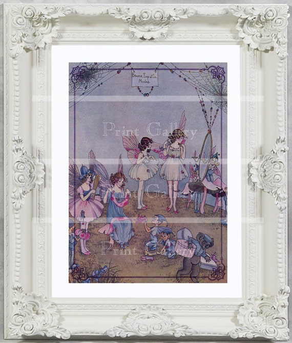 Shabby Cottage Chic Nest Prints Home Decor Wall Art ~ Shabby chic altered art home decor fairy print by printgallery