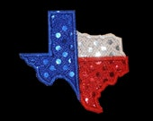 DIY Iron-On Sequin Patch - State of Texas