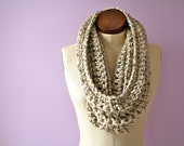 Infinity/ Circle Scarf - Chunky, Crocheted, Textured