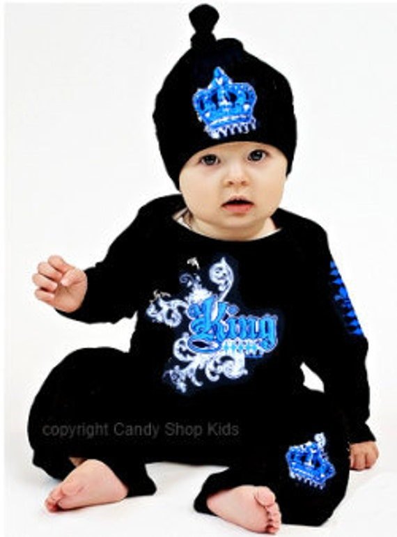 Baby Boy Clothes on Sale King Outfit Black With Blue Infant