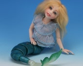 MARINA The Mermaid. Limited Edition Ball-Jointed Fairytale Fantasy Art Doll by Tanya